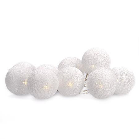 Solight LED řetěz vánoční koule bavlněné, 10LED, 1m, 2x AA, IP20 ; 1V201