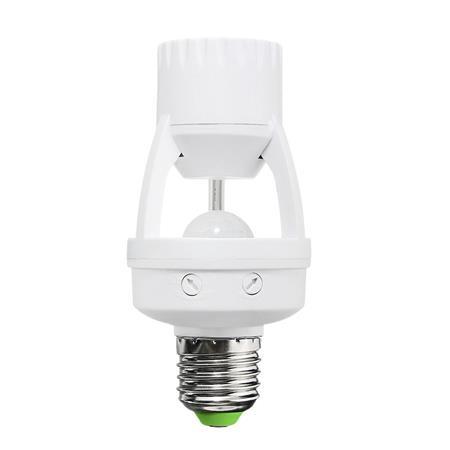 Solight PIR senzor pro E27 žárovku, bílý; WPIR06