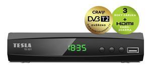 TESLA TE-321, DVB-T2 HEVC FTA přijímač, DVB-T2 ověřeno; DBTTEH01D21