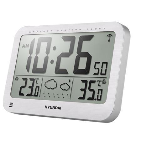 Hyundai WS 2331, velké hodiny, stříbrná; HYUWS2331