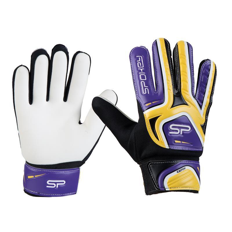 Spokey CATCH II brankářské rukavice žluto-fialové roz. 5; K922769
