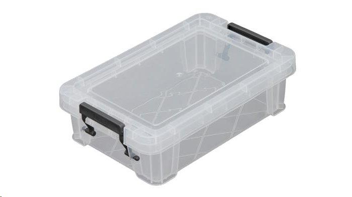 Allstore Box, plastový, s víkem, 0,8 l, průhledný; S20F008
