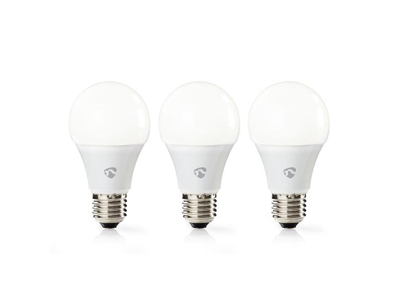 Chytrá WiFi žárovka LED E27 9W bílá teplá NEDIS WIFILW31WTE27 SMARTLIFE; WIFILW31WTE27