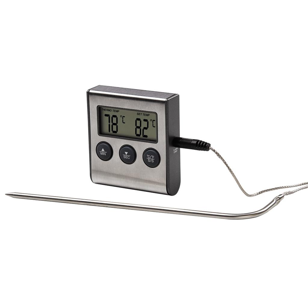 Xavax digitální teploměr na potraviny/nápoje, s časovačem, senzor na kabelu; 111381