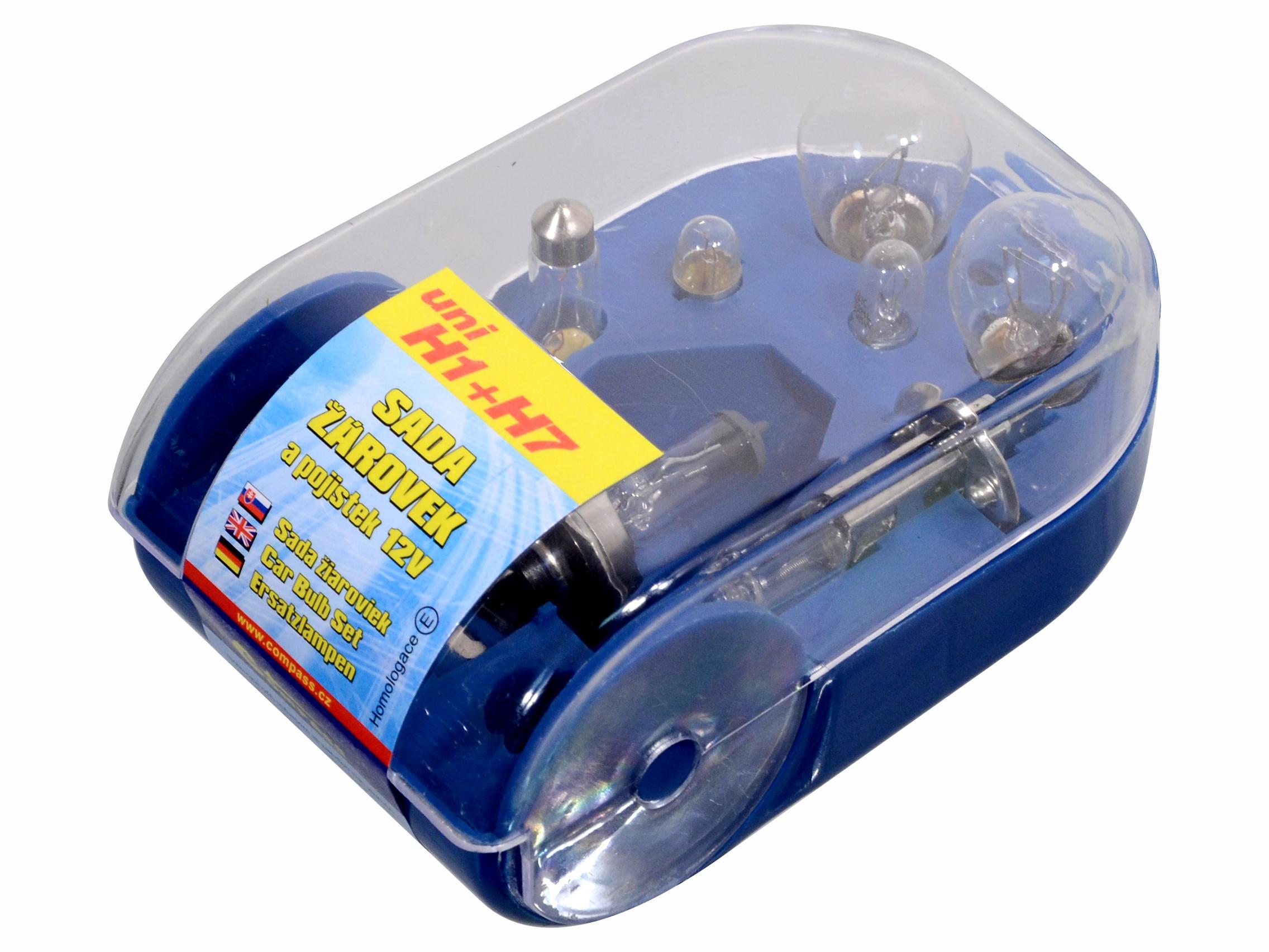 Žárovky servisní box univerzální H7+H1; 8500