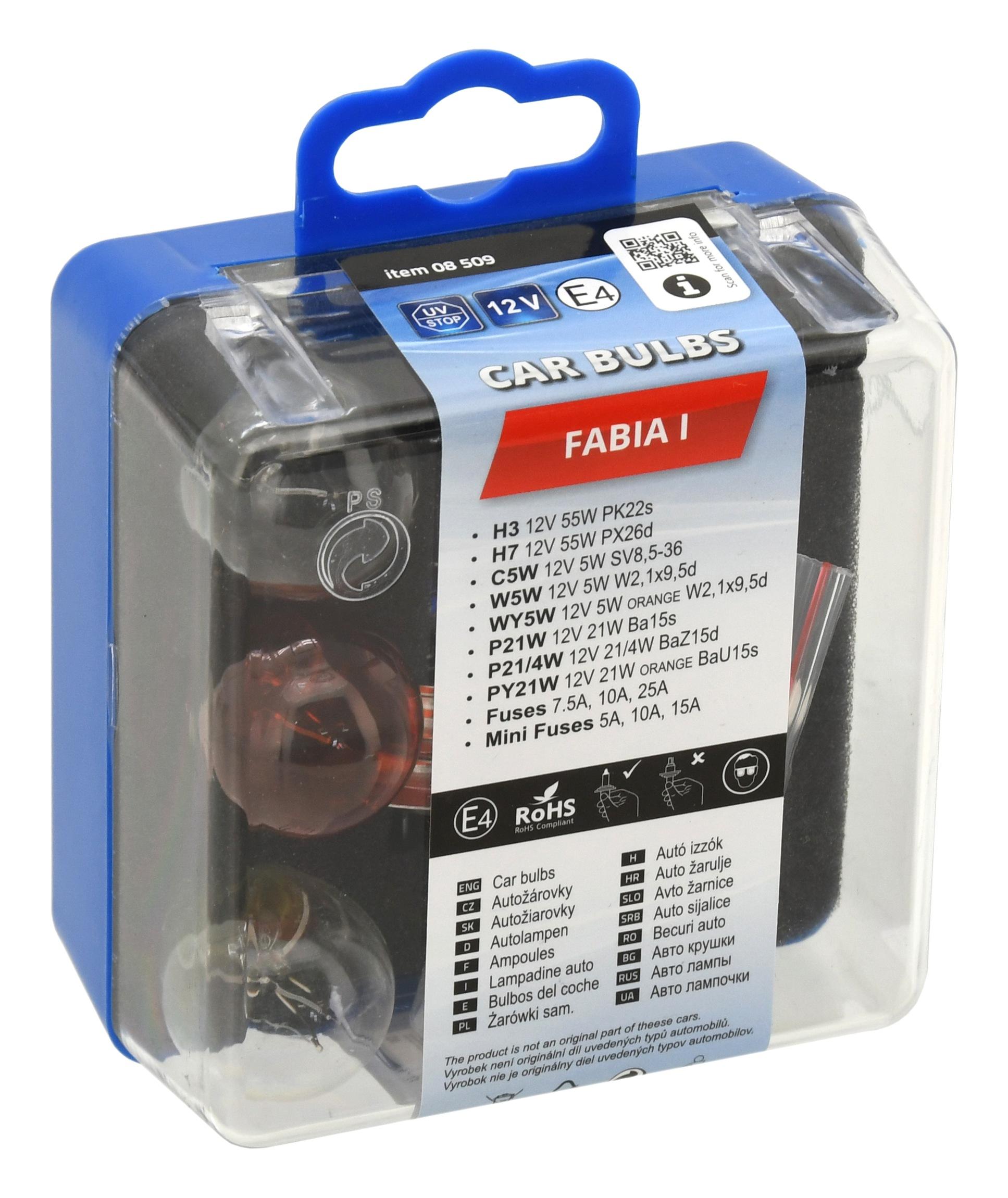 Žárovky servisní box ŠKODA FABIA I.; 8509
