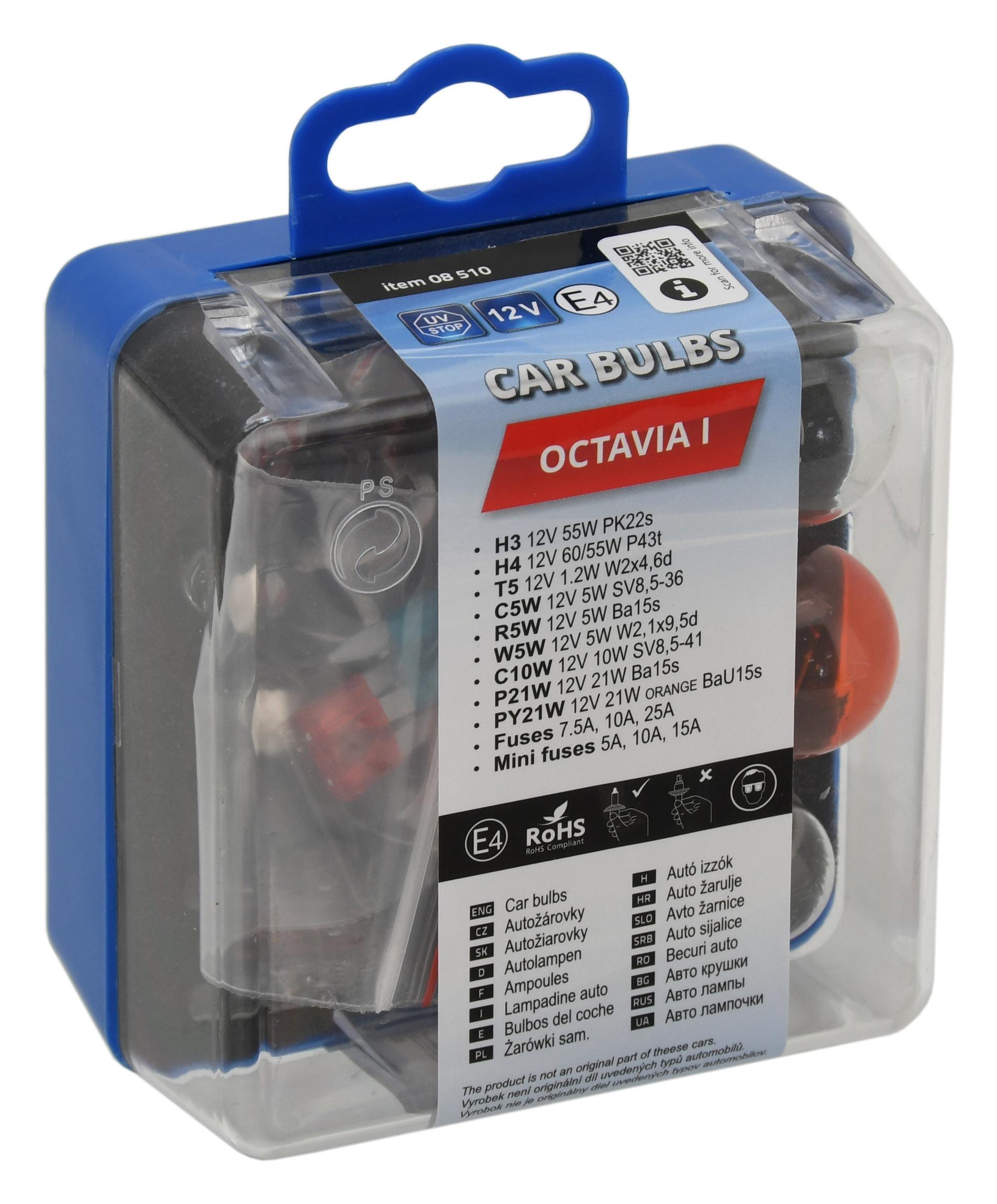 Žárovky servisní box ŠKODA OCTAVIA I.; 8510