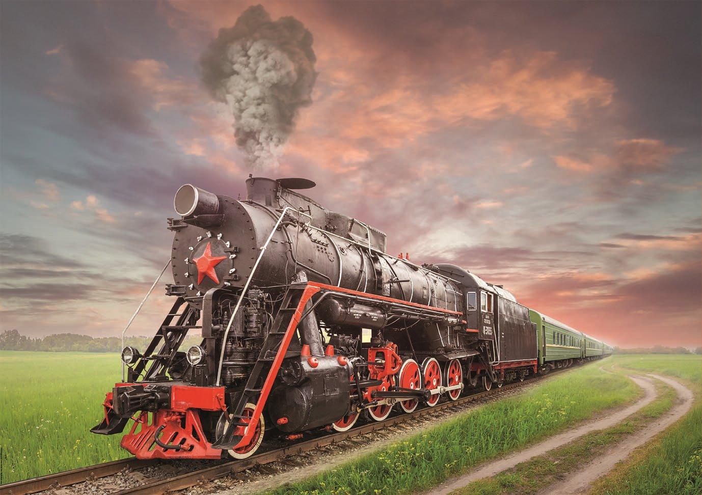 EDUCA Puzzle Parní lokomotiva 2000 dílků; 134728