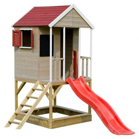 Domeček dětský dřevěný Veranda se skluzavkou; 11640361