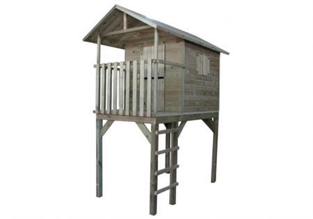 Domeček dětský dřevěný s žebříkem Vyhlídka; 11640372