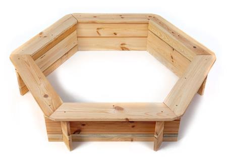 Pískoviště dřevěné šestihranné; 11640432