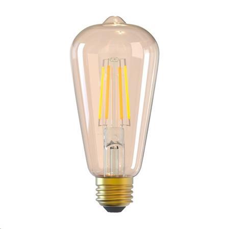 Tellur WiFi Smart žárovka Filament E27, 6 W, jantarová, teplá bílá; TLL331191