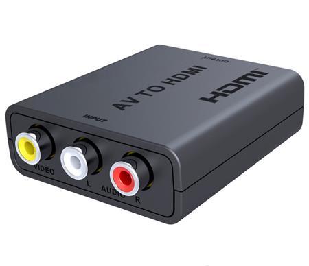PremiumCord převodník AV kompozitního signálu a stereo zvuku na HDMI 1080P; khcon-47