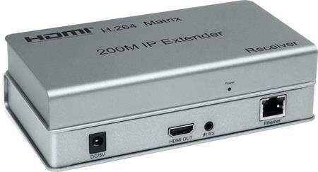 PremiumCord HDMI matrix extender na 200m, over IP, pro počítačovou síť; khext200-1