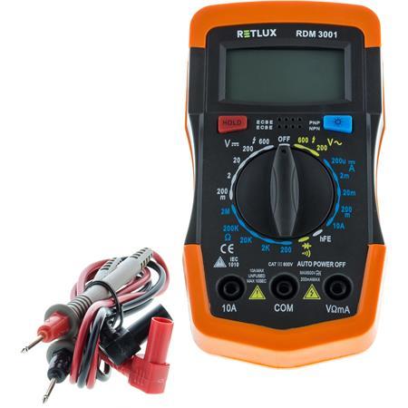RETLUX RDM 3001 Digitální multimetr; 50002704