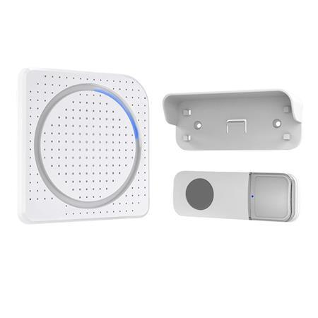 Solight bezdrátový zvonek, do zásuvky, 200m, bílý, learning code; 1L67