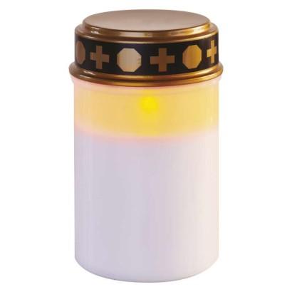 EMOS LED hřbitovní svíčka, 12,5 cm, 2x C, venkovní i vnitřní, vintage, časovač; 1550001024