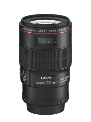 Canon EF 100mm f/2.8L Macro IS USM objektiv; 3554B005AA