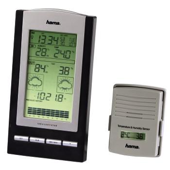 Elektronická meteorologická stanice EWS-800, barva černá/stříbrná; 76045