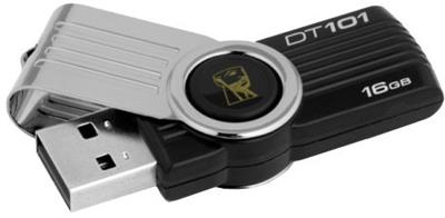 Kingston 16GB DataTraveler 101 G2 Black - USB Flash Disk, černý/stříbrný; DT101G2/16GB