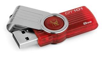 Kingston 8GB DataTraveler 101 G2, červený; DT101G2/8GB