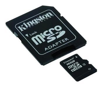 Kingston micro 16GB Class 4 SecureDigital HC (microSDHC); SDC4/16GB