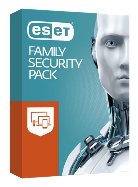 ESET Family Security Pack, 3 stanice, 12 měsíců, krabice; 166047
