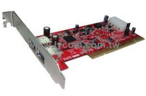 Kouwell UB-125 PCI I/O karta 2x USB3.0 port NEC chip Low profille; UB-125