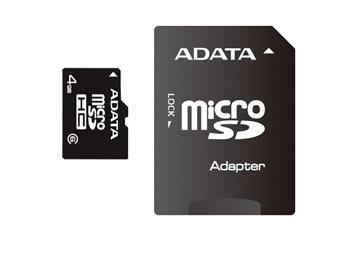 ADATA micro SDHC karta 16GB Class 4 + adaptér na SDHC