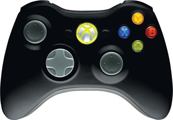 Microsoft Xbox 360 Gamepad bezdrátový pro Windows, USB; JR9-00010