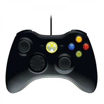 Microsoft Xbox 360 Gamepad drátový pro Windows, USB, černý; 52A-00005