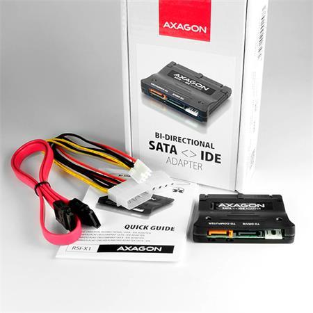 Axagon SATA - IDE Bi-Directional adapter interní; RSI-X1 - Externí box Axagon RSI-X1