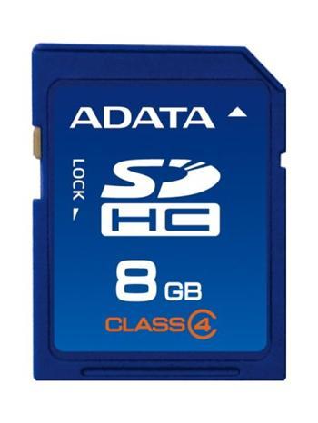 A-Data SDHC 8GB Class 4; ASDH8GCL4-R