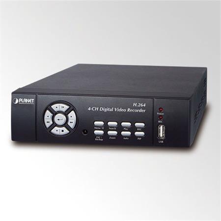 DVR-462, 4x video, 1x LAN, 50sn/s D1, H264, SATA2, fanless, malý rozměr, I/O, RS-485 ; CR462