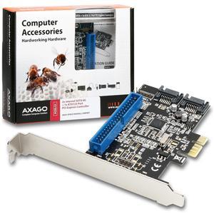 AXAGO PCIe řadič 2x int.SATAIII 6G + ATA133 RAID; PCES-S1