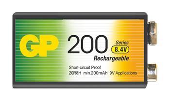 Nabíjecí baterie GP NiMH200 6F22 (8,4V), 1 ks v blistru