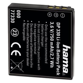 Fotoakumulátor Li-Ion 3,6 V/750 mAh, typ Panasonic DMW-BCE10/VBJ10, Ricoh DB70; 77330