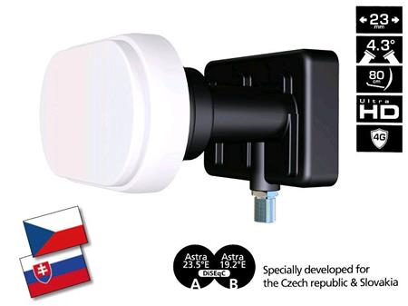 INVERTO BLACK Pro - Single Monoblock LNB 4.3° 0,2 dB; LNBINSNPO1
