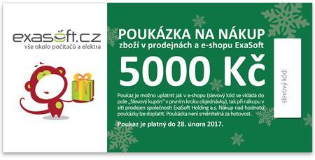 Dárkový poukaz k odběru zboží v hodnotě 5000 Kč