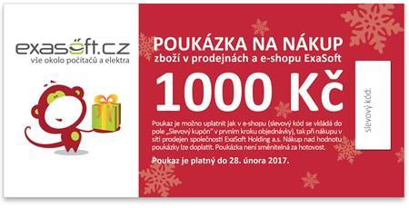 Dárkový poukaz k odběru zboží v hodnotě 1000 Kč