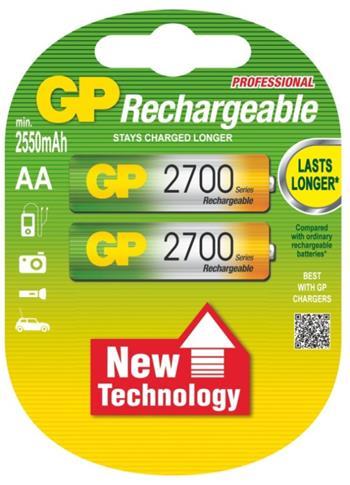 Baterie GP nabíjecí AA 2700 NiMH blistr 2ks; 1032212140