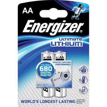 Baterie ENERGIZER Ultimate Lithium AA 2ks; FR6/2