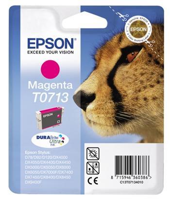 Epson T0713 - inkoust magenta pro Epson Stylus D78, DX4000, DX5000, DX6000, DX7000F (gepard); C13T07134011
