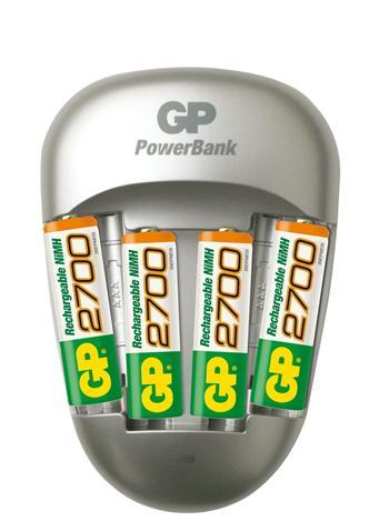 GP nabíječka baterií PB27 + 4AA NiMH2700