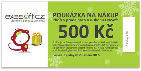Dárkový poukaz k odběru zboží v hodnotě 500 Kč