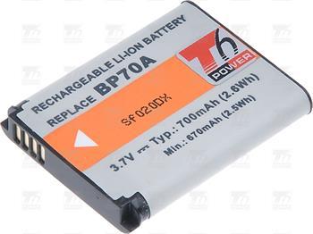 T6 power baterie BP-70A, SLB-70A, BP70A; DCSA0014
