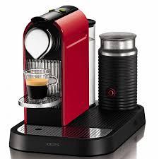 Nespresso Krups CitiZ & MILK + Aeroccino, red (XN7305); XN730510