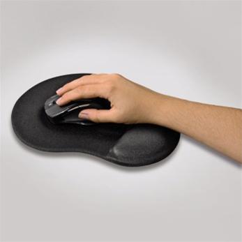 Ergonomická gelová podložka pod myš, černá; 54777