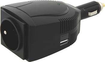 EMOS Měnič napětí do auta 12V/230V, 100W