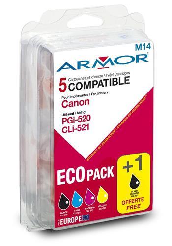 Kompatibilní Armor cartridge pro Canon iP 3600 multipack (PGI520/CLI521BK/CMY) B10158R1; B10158R1